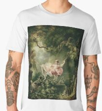 Jean-Honore Fragonard - The Swing, 18th Century Men's Premium T-Shirt