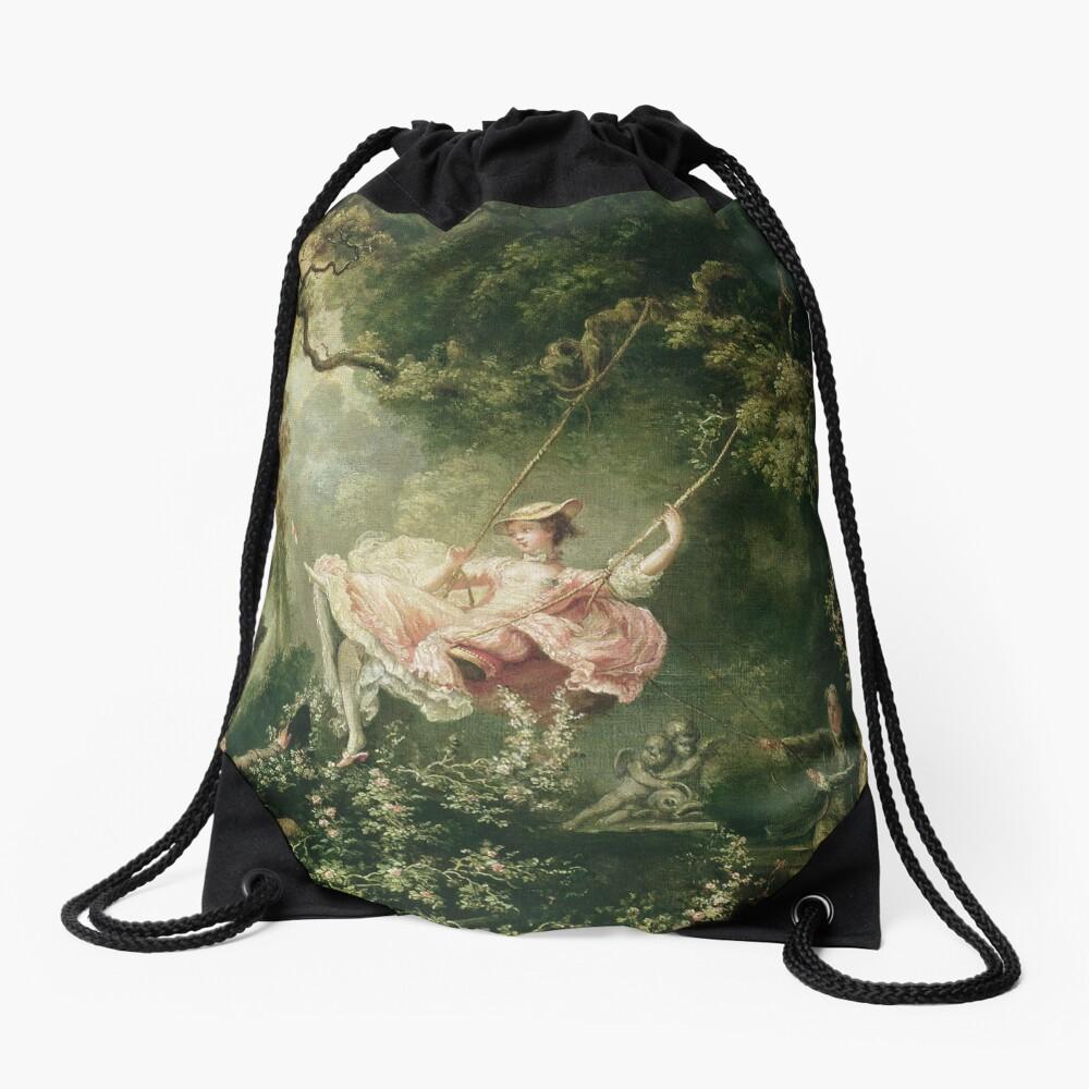 Jean-Honore Fragonard - The Swing, 18th Century Drawstring Bag