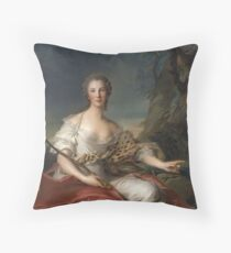 Jean-Marc Nattier - Portrait Of Madame Bouret As Diana Throw Pillow