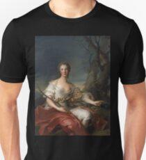 Jean-Marc Nattier - Portrait Of Madame Bouret As Diana Unisex T-Shirt