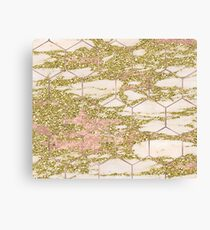Dramatic rose gold and golden honeycomb Canvas Print