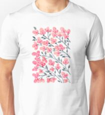Cherry Blossoms – Pink & Black Palette Unisex T-Shirt