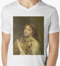 Jean-Baptiste Greuze - A Girl With A Lamb T-Shirt