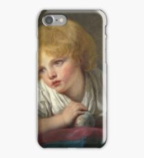 Jean-Baptiste Greuze - A Child With An Apple iPhone Case/Skin