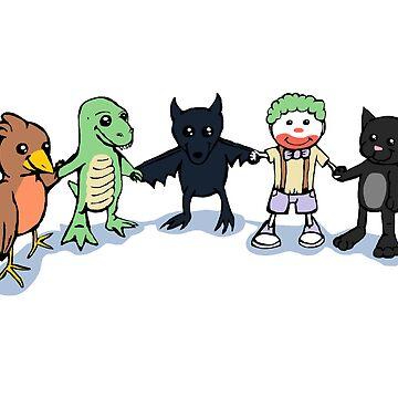 Batty and Friends by ZebraArmada
