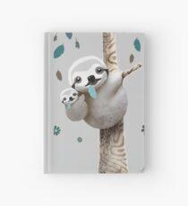 Baby Sloth Twilight Hardcover Journal