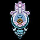 Lotus Hamsa by Humberto Braga