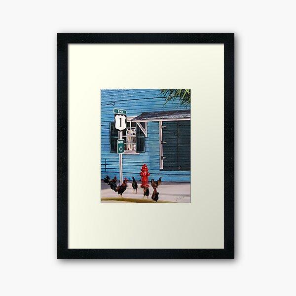 Mile Marker 0 Framed Art Print