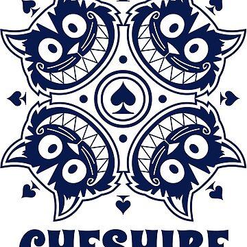 Cheshire Originals - Cheshire Spade Burst Sticker by CheshireGoMad