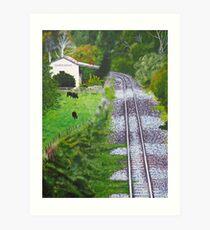 Omokoroa Railway Station, New Zealand Art Print