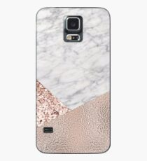 Expensive pink - rose gold marble Case/Skin for Samsung Galaxy