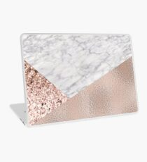 Expensive pink - rose gold marble Laptop Skin