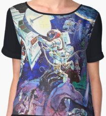 Spaceship Earth Mural Women's Chiffon Top