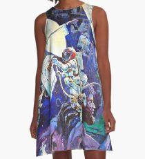 Spaceship Earth Mural A-Line Dress