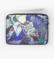 Raumschiff Erde Wandgemälde Laptoptasche