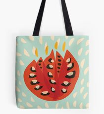 Abstract Red Tulip Tote Bag