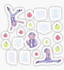Motivational Sportacus Sticker Sheet Sticker