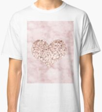 Rose gold - heart Classic T-Shirt