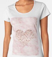 Roségold - Herz Frauen Premium T-Shirts