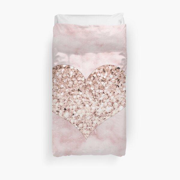 Rose gold - heart Duvet Cover