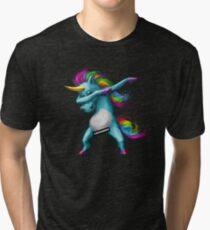 Dabbing Unicorn Tri-blend T-Shirt