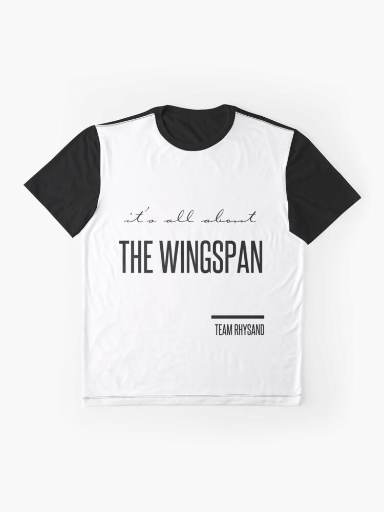 Alternative Ansicht von es geht nur um die Spannweite Grafik T-Shirt