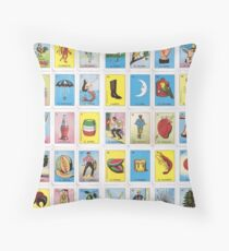 Loteria Throw Pillow