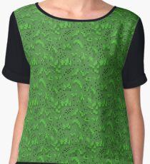 Pixel Grass Pattern Chiffon Top