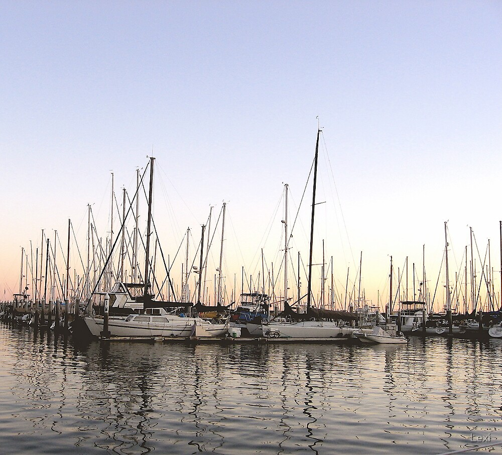End Of The Day Santa Barbara Harbor by Lexi