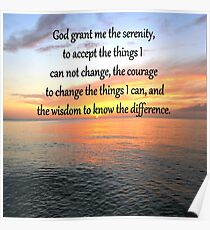 SERENITY PRAYER SUNRISE DESIGN Poster