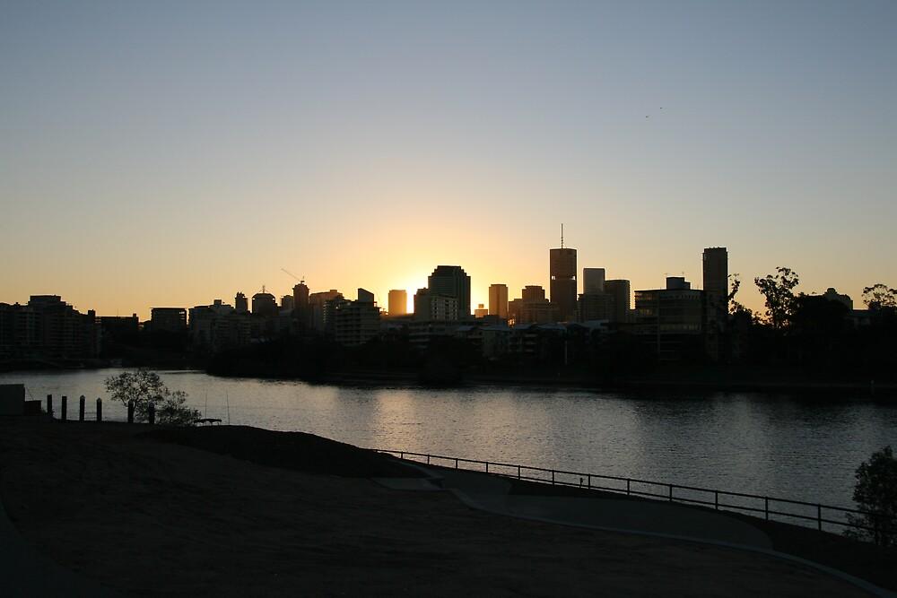 Brisbane at sunset by Adam Turner