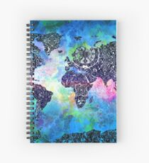 world map mandala 5 Spiral Notebook