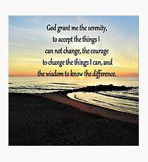 INSPIRING SUNRISE SERENITY PRAYER PHOTO Photographic Print
