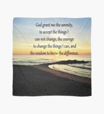 INSPIRING SUNRISE SERENITY PRAYER PHOTO Scarf