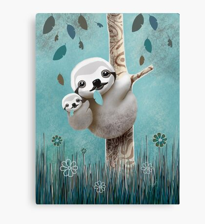 Baby Sloth Daylight Canvas Print