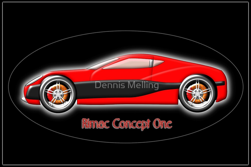 Rimac Concept One  All-Electric SuperCar by Dennis Melling