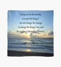 BE BLESSED SERENITY PRAYER SUNRISE PHOTO Scarf