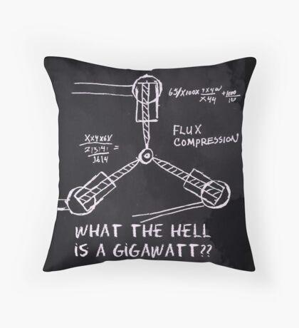 1.21 Gigawatts Throw Pillow