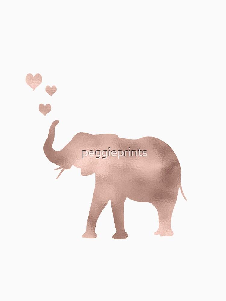 Elefante amor - hoja de oro rosa de peggieprints