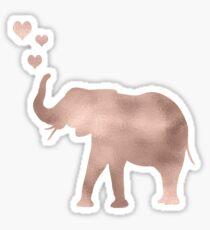 Elephant love - rose gold foil Sticker