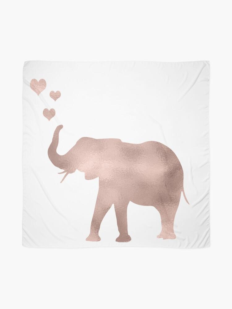 Vista alternativa de Pañuelo Elefante amor - hoja de oro rosa