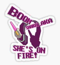 she's on fire Sticker