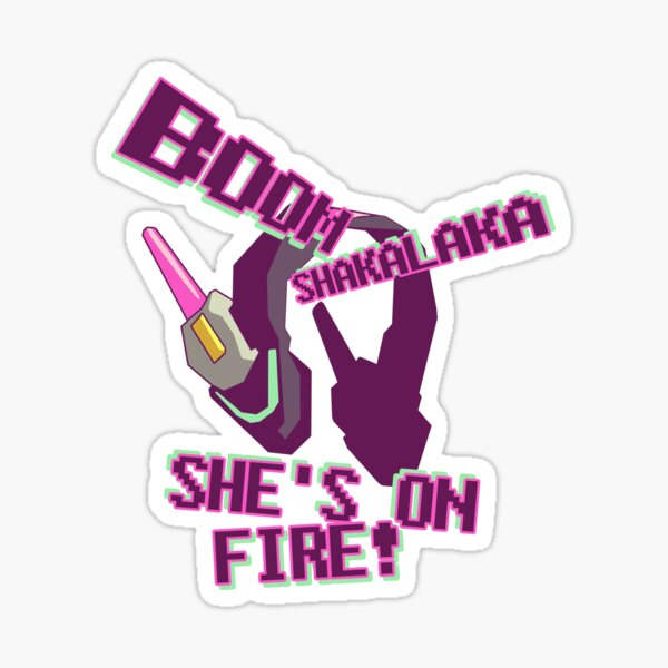 she's on fire Sticker