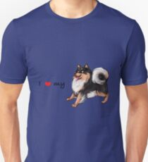 I Heart My Finnish Lapphund - Black and Tan - Play Unisex T-Shirt