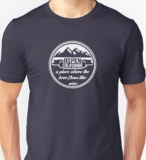 Aspen, California Slim Fit T-Shirt
