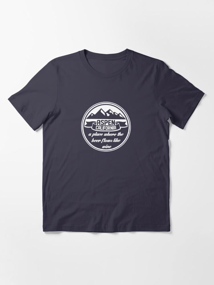 Alternate view of Aspen, California Essential T-Shirt
