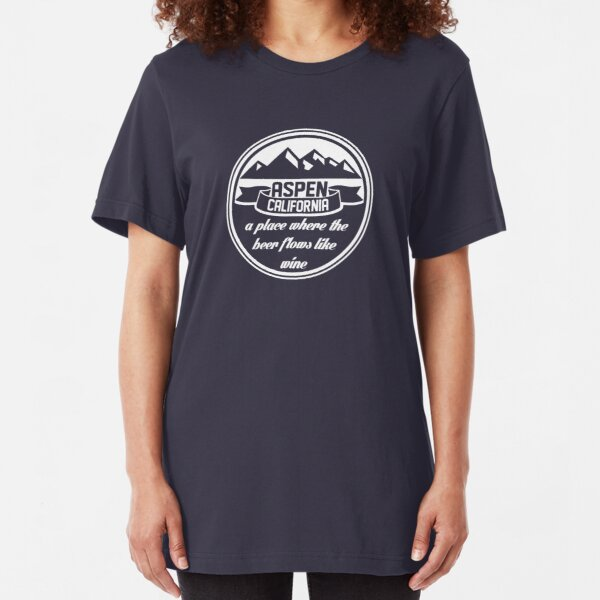Aspen, California Slim Fit T-Shirt
