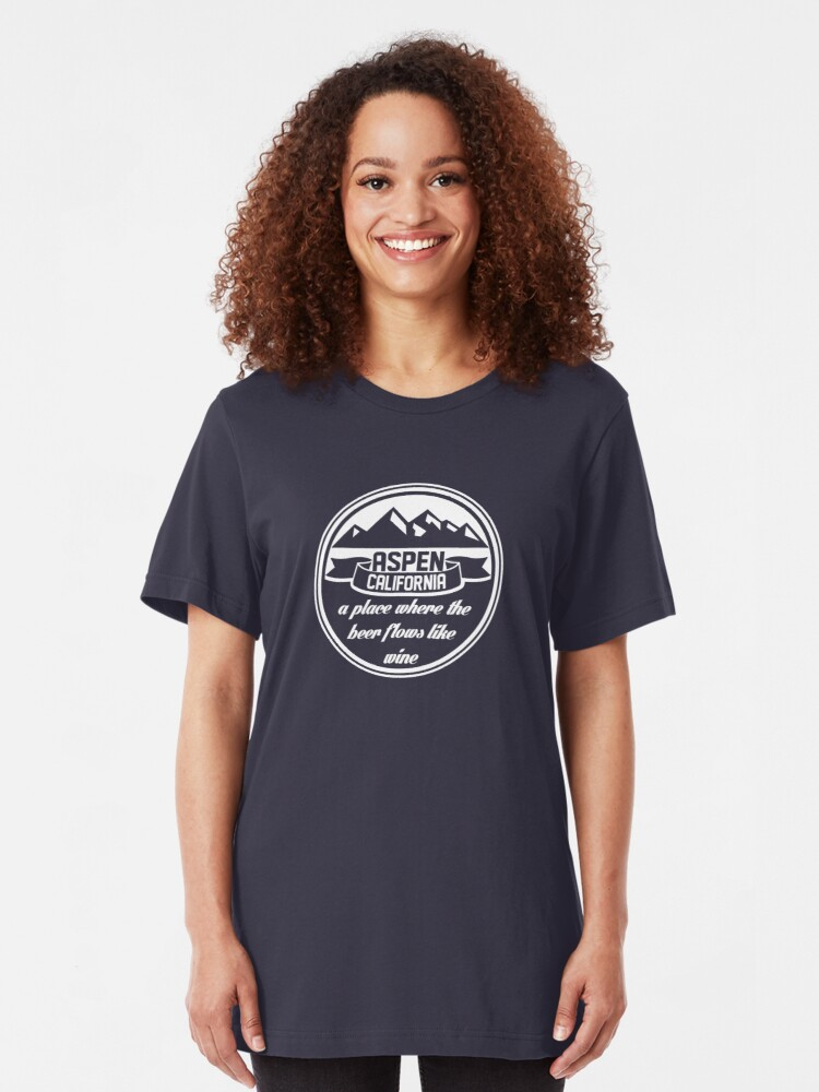 Alternate view of Aspen, California Slim Fit T-Shirt
