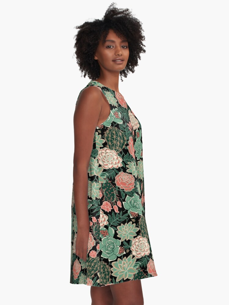 Alternate view of succulent A-Line Dress