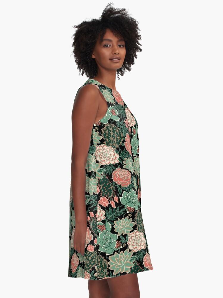 Alternate view of succulent A-Line Dress